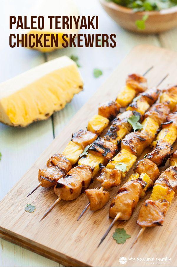 Paleo Teriyaki Chicken Skewers Recipe - My Natural Family