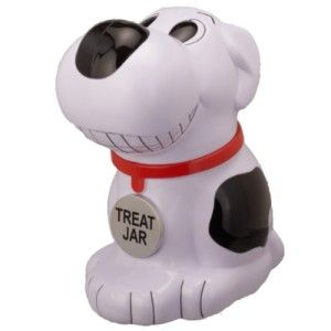 "Who Let the Dogs Out Singing Dog Treat Jar ""Who Let The Dogs Out!"" performed by The Baha Men will come alive every time you open this treat jar. http://theceramicchefknives.com/talking-cookie-jar/ Talking Cookie Jar: Spongebob Squarepants, The Original Tiger Cookie Jar, Who Let the Dogs Out Singing Dog Treat Jar"