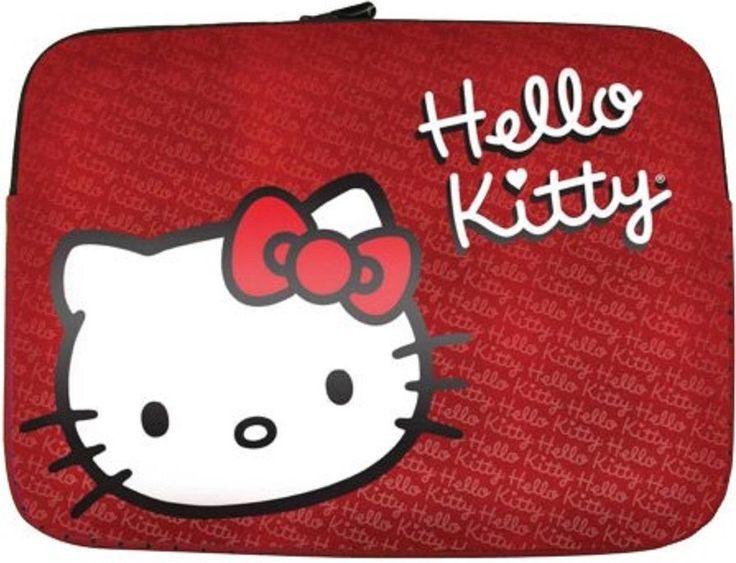 """Hello Kitty Red 9""""-11""""PC Apple Notebook Shock-Absorbing Sturdy Neoprene Sleeve   #HelloKitty #Notebooksleeve"""