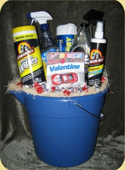 I actually made one similar to this for my Dad's birthday one year.  He absolutely loved it!  He said that it was the first gift basket he ever got where he could actually use every item.