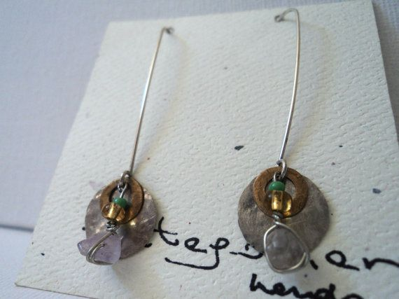 Handmade .950 Silver Earrings by PatagonianHands on Etsy, $40.00