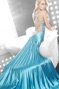 [US$ 161.99] Silk Like Satin Wide Straps Long Prom Dress