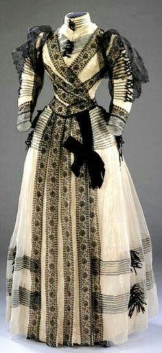 Half mourning dress, 1890's