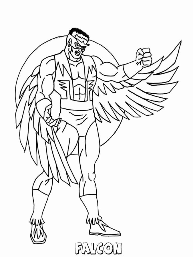 Peregrine Falcon Coloring Page Beautiful Falcon Avengers Coloring Pages Avengers Coloring Pages Captain America Coloring Pages Superhero Coloring Pages