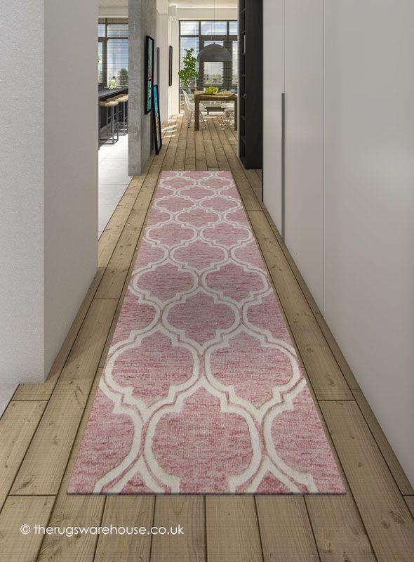 Medina Geo Pink Runner In 2019 Hallway Grey