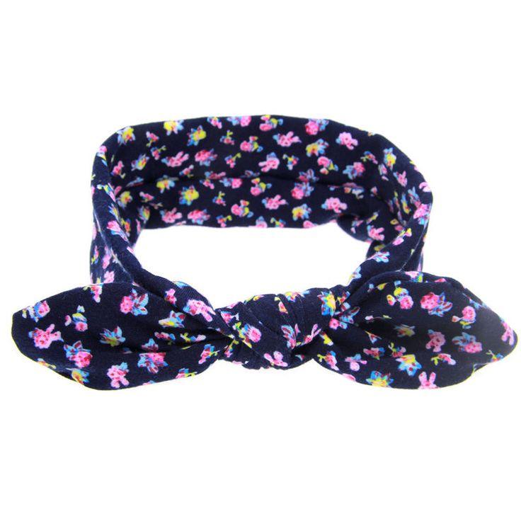 1 PC 2016 Kid Baby Girl Cotton Elastic Hairband Children Stretch Turban Knot Rabbit Headband Headwear Baby Hair Band Accessories