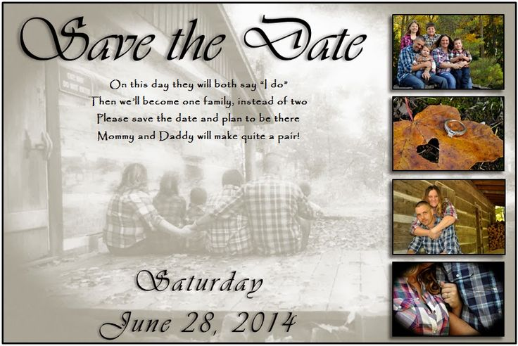Blended Family Wedding Invitations: Blended Family Save The Date - Google Search