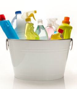 Click here for recipes for DIY cleaning products to tackle just about any job around the house.
