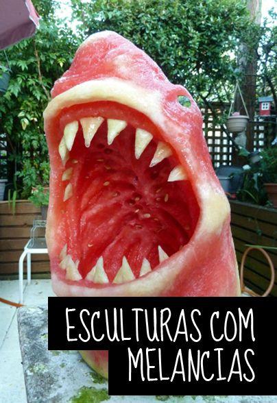 Acredite ou não isso é uma melancia: http://mixidao.com.br/esculturas-com-melancias/                                                                                                                                                                                 Mais