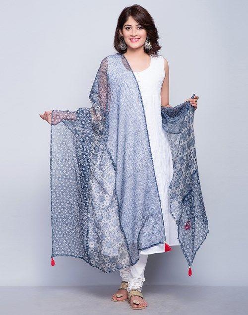 Cotton Silk Kota Printed Gulbahar Dupatta