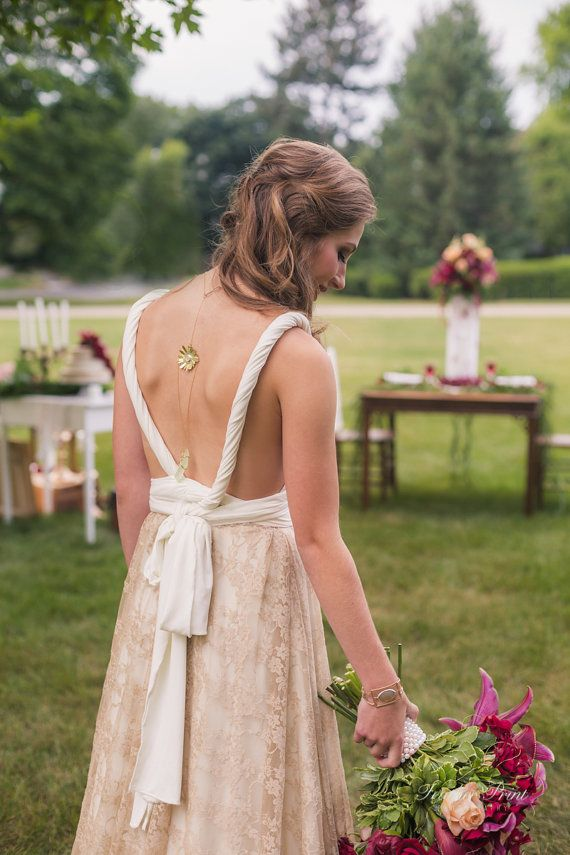 Romantic Golden Lace Wedding Dress, White Dress Golden Lace, Vintage inspired Bridal Gown, Romantic Dress made to measure choose colors www.mimtikbcn.com @mimetikbcn  Photo cred: Sara Barkley, Feather Print Photography https://www.featherprintphotography.com