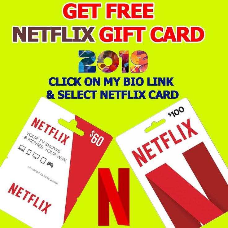Win Netflix gift card for free ! Gift Card valued 10