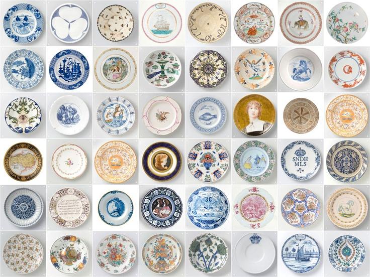 ixxi special: Plates, Rijksmuseum Amsterdam. Contemporary room divider or wallpaper from original Rijksmuseum ceramics. #wallart #interior $195.00