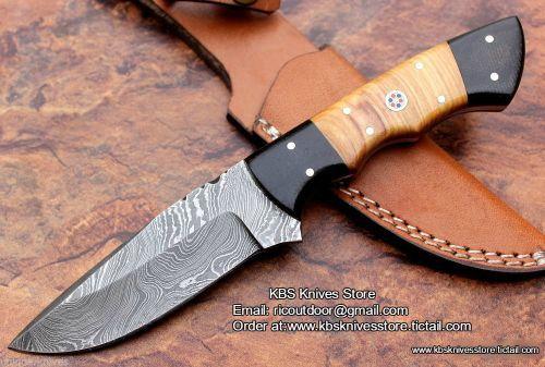 Hand Made Twist Damascus Skinning Knife