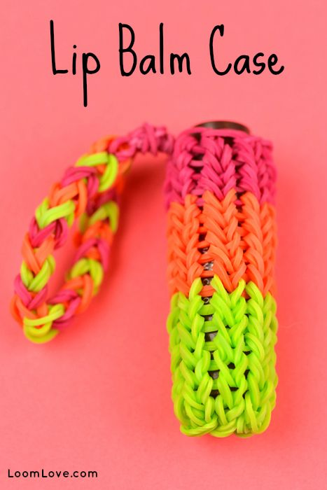 How to Make a Lip Balm Case on the Monster Tail #rainbowloom #monstertail