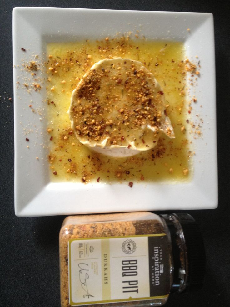 Put a Brie or Camembert in the microwave for around 1 1/2 minutes until nice and gooey, Sprinkle with your favourite YIAH Dukkah and dig in. So yum.