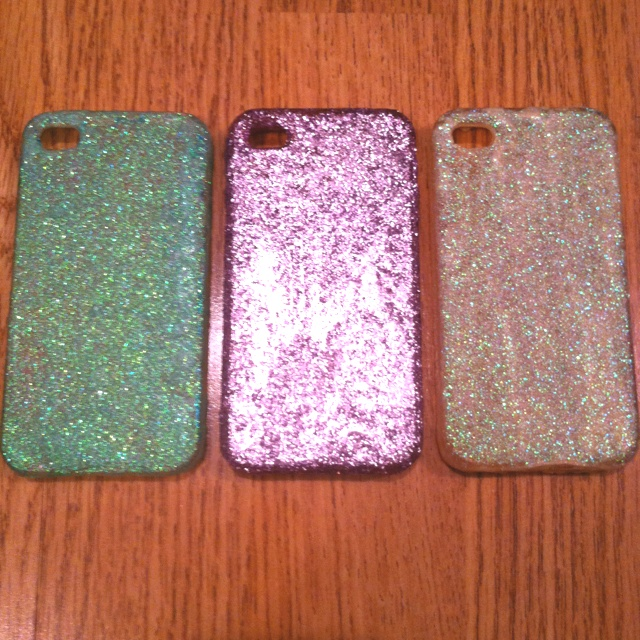 diy mod podge glitter iphone cases diy pinterest