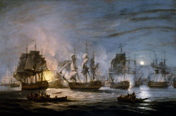 The Battle of the Nile, Thomas Luny, 1830, National Maritime Museum.