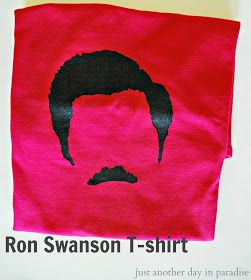Ron Swanson T-shirt Tutorial- easiest screenprinting technique EVER!