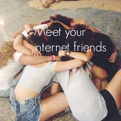 Meet and hug your internet friends