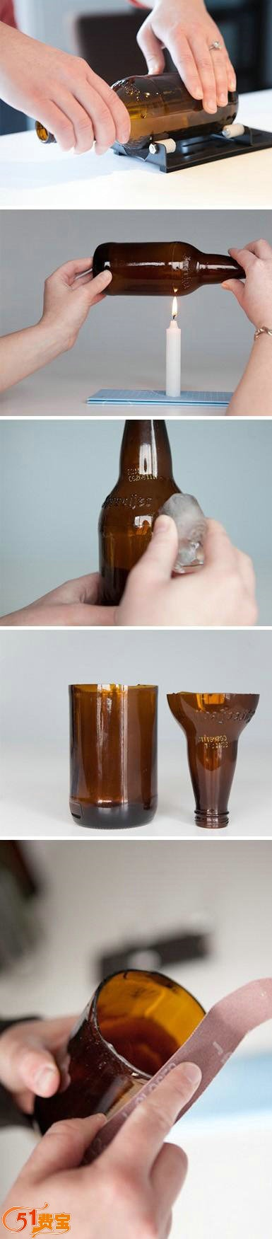 51Feibao Reuse DIY Craft: Recycling beer bottle for home flowerpot