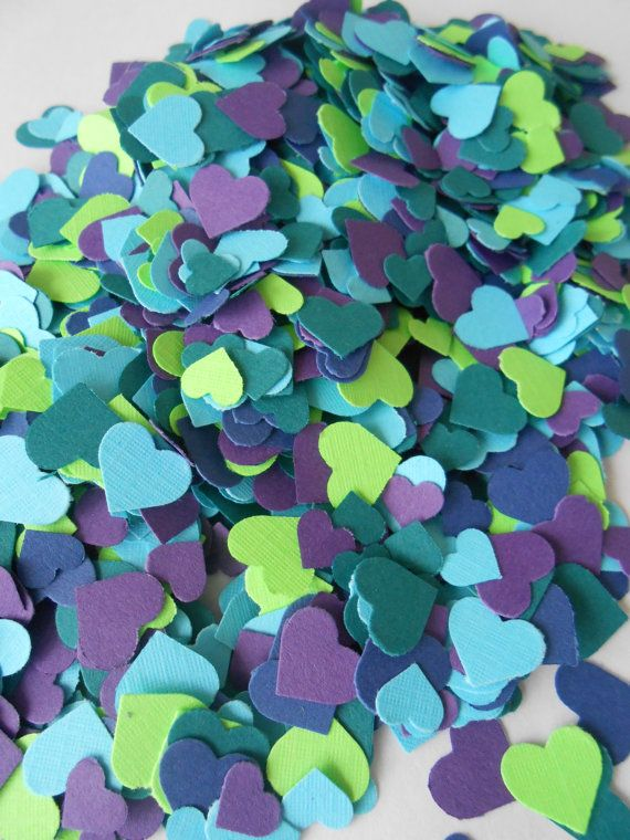 This listing is for just over 2000 die-cut MINI hearts, measuring from 1/8 to…