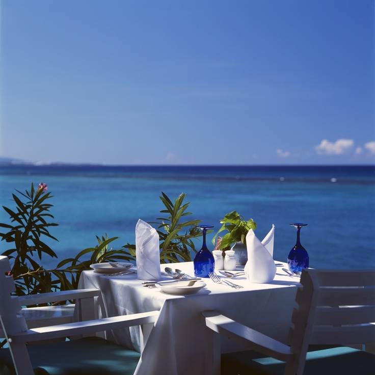 This could be your view during breakfast at Jamaica Inn. http://jamaicainn.com/dining.php