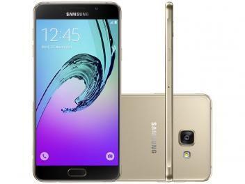 Smartphone Samsung Galaxy A7 2016 Duos 16GB - Dourado Dual Chip 4G Câm. 13MP + Selfie 5MP. Na concorrência estar por R$ 1799,00, com nós você encontra por R$ 1.499,90 podendo parcelar em até 10x sem juros ou R$ 1.394,91 à vista. Não perca esta, aproveite!