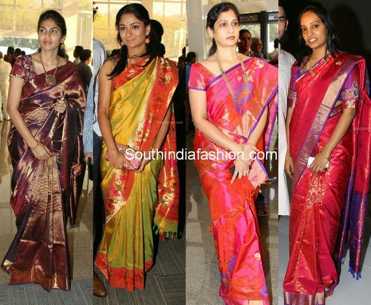 Celebrity Bridal Silk Sarees Celebrity Sarees, Designer Sarees, Bridal Sarees, Latest Blouse Designs 2014 South India Fashion