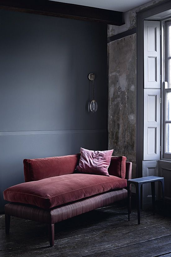 that pink velvet chaise lounge