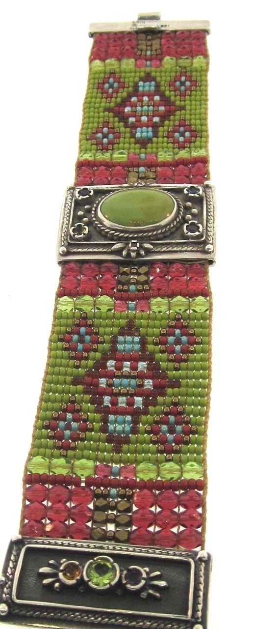 ICE JEWELRY - Chili Rose Green Diana Bracelet, $1,325.00 (http://www.icejewelry.com/chili-rose-green-diana-bracelet/)