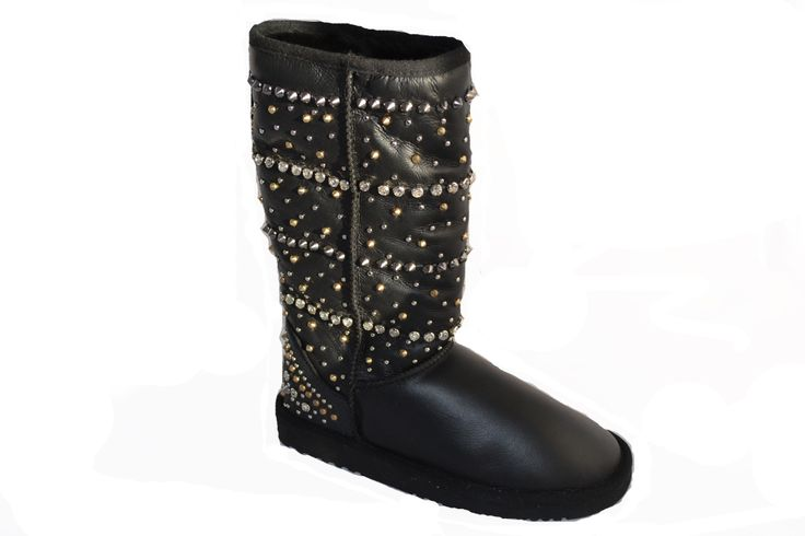 Keep warm and sparkly over Christams in these studded sheepskin boots. www.shoesatgoody2shoes.co.uk