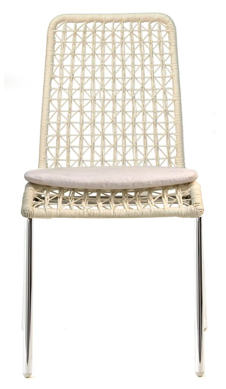The Lara Dining Chair is characterised by the irregular paper weave detail of the back and seat; which makes the chair appear light and airy. The seat and
