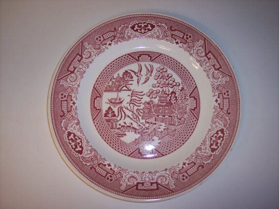 Vintage Willow Ware Royal China Pink red 10 by MaAndPasAttic $14.00 & 7 best Pink Willow images on Pinterest | Dish sets Dishes and Porcelain