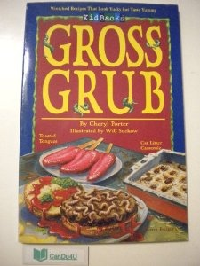 """we actually owned this book at one point. i would love another copy"""" From Cat Litter Casserole to Hairball Salad with Saliva Dressing, here are 38 of the most yucky-sounding--but yummy-tasting--recipes anyone out of their right mind could possibly imagine!  Instructions for each easy-to-prepare dish are accompanied by thoughtful serving suggestions, such as how to create a slimy spitwad placecard using corn syrup, or how to make lettuce look worm-eaten."""