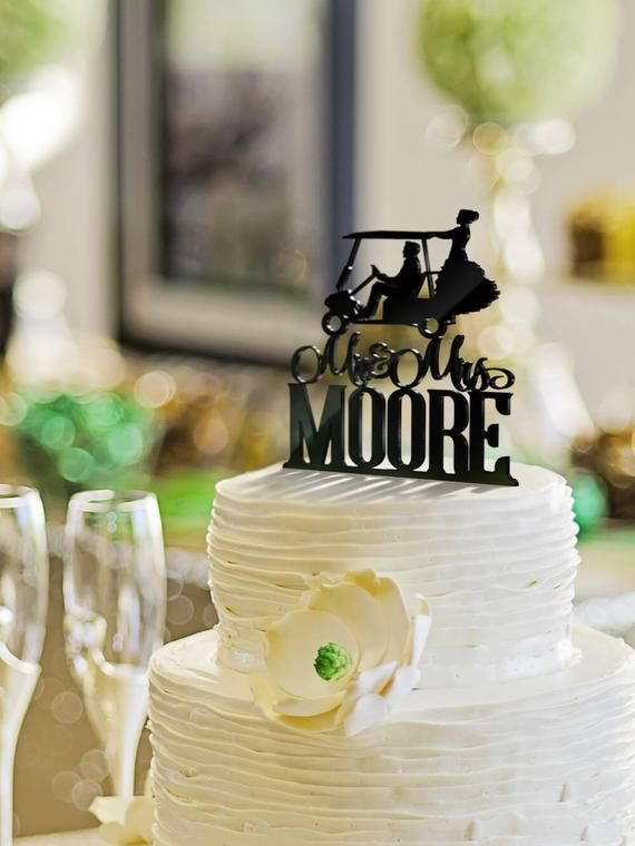 Golf Cake Toppers Golf Cake Decorations Golf Wedding Cake Etsy Dog Cake Topper Wedding Wedding Cake Toppers Wedding Cake Topper Silhouette