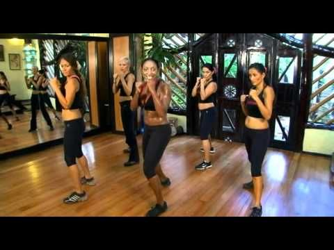 Tiffany Rothe workouts on youtube - they are all around 10 minutes and you can combine them or just do one.  And you shake your booty a lot! Now part of my morning routine.  :)