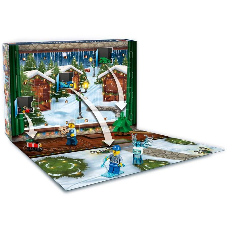 LEGO 60155 City Advent Calendar 2017 Construction Toy: LEGO: Amazon.co.uk: Toys & Games