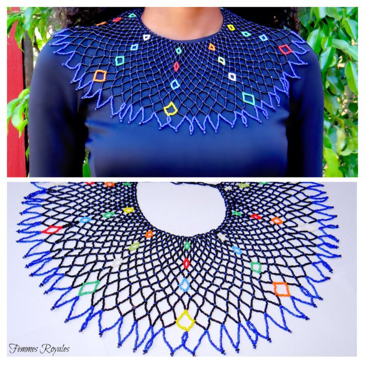 Beaded zulu necklace, african necklace available soon follow us on social media @Femmes Royales