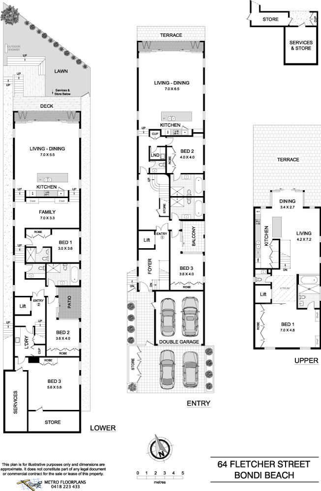 29/4/15 Tamarama, NSW Sales Agents - Peter Blacket and Jacqueline Blacket The Blacket Agency - Double Bay 02 9327 1717 #floorplan #plans #architecture #design