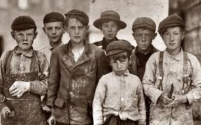 1920s great depression photo of a bunch of a group rugrat hooligans ...