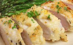 Cenas proteicas rápidas y fáciles: pechugas rellenas de jamón y queso al horno (XI)