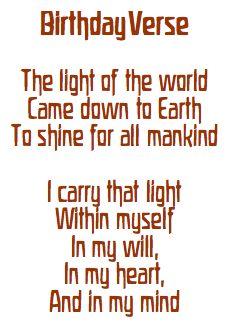 waldorf mama: birthday verse