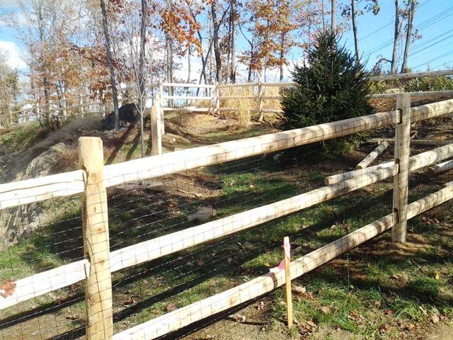 3 Rail Round Rail Post And Rail Fence Wood Fence