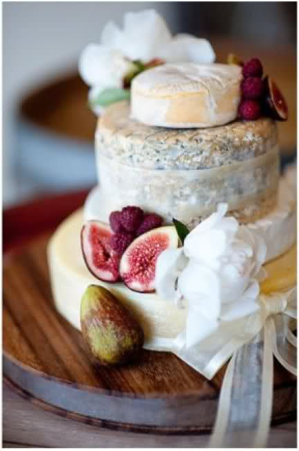 A wee cheese wedding cake.