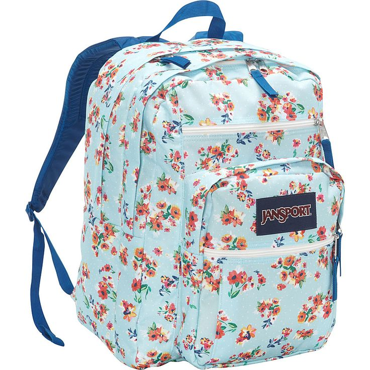 Jansport Big Student School Backpack Multi Painted Ditzy