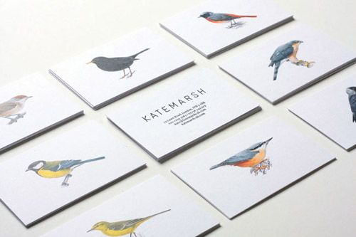 Simple and illustrated // business cards for a creative. Thanks @Alex McVarish HADE I love them!