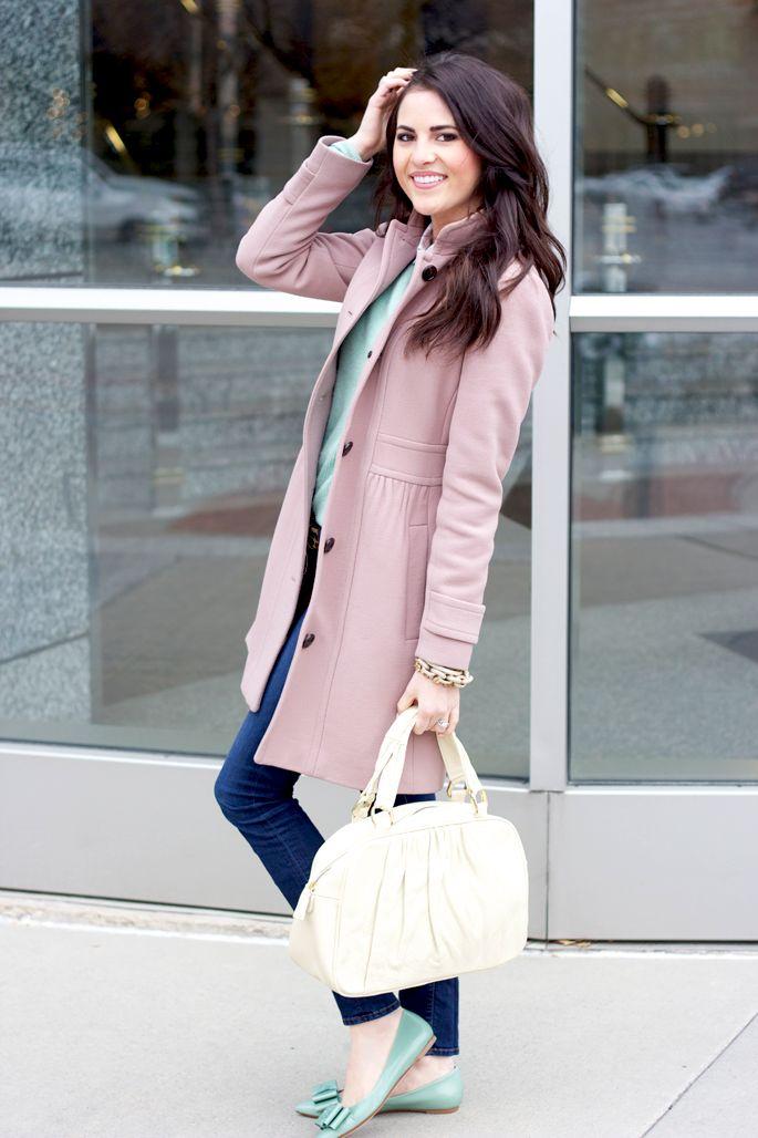 .Pastel, Fav Colors, Colors Combos, Gorgeous Colors, Lights Pink, Color Combos, Mint Shoes, Crew Coats, Ballet Shoes