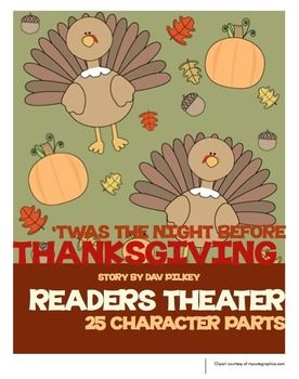 Based on the story by Dav Pilkey, this rhyming tale will get your students excited for Thanksgiving! It comes with 25 character parts