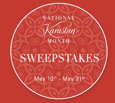 I just entered Karastan's #NKM2016 Sweepstakes for a chance to win one of two custom sized rugs! Click on this link to enter and get a $1000 back coupon.